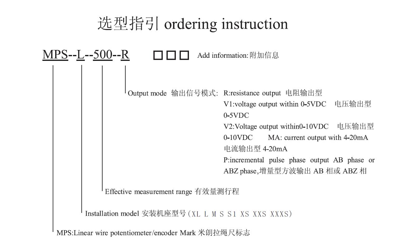 拉绳传感器选型指南